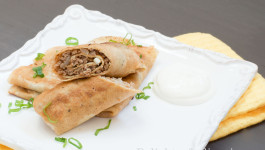 crepes with meat
