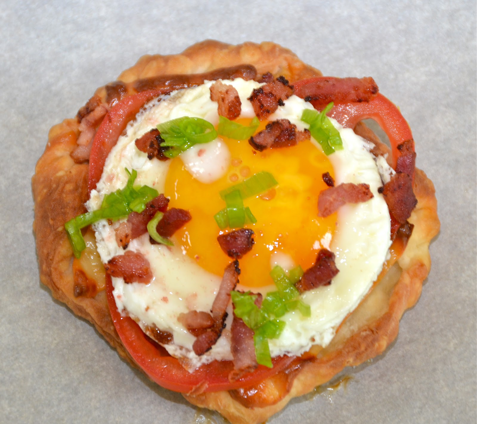 bacon puff fried egg and bacon puff fried egg and bacon puff pastry ...