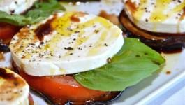 Eggplant capresse appetizer