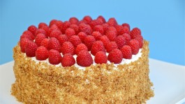 Fruit Cake with Pastry Cream Filling-фруктовый торт с заварным кремом