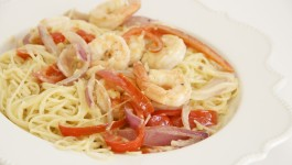Capellini Shrimp Scampi
