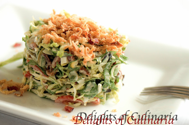 Chopped Salad with Creamy Lemon Basil Dressing - Delights Of Culinaria