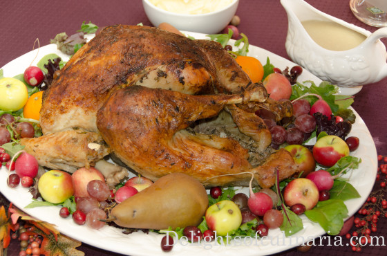 Roasted turkey