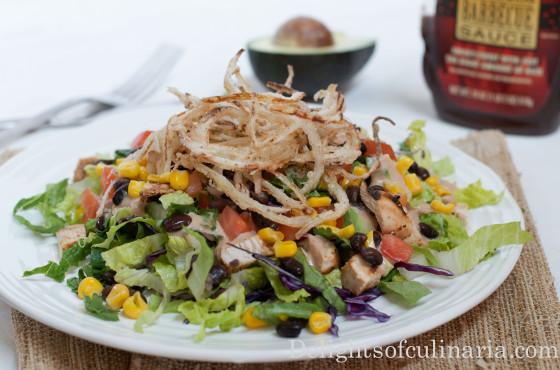 BBQ Ranch Chicken Salad - Delights Of Culinaria