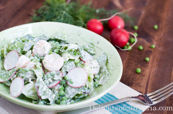shrimp spring salad
