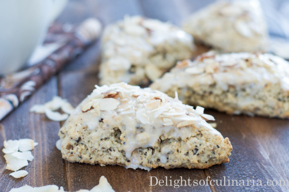 Almond Chocolate Coconut Scones