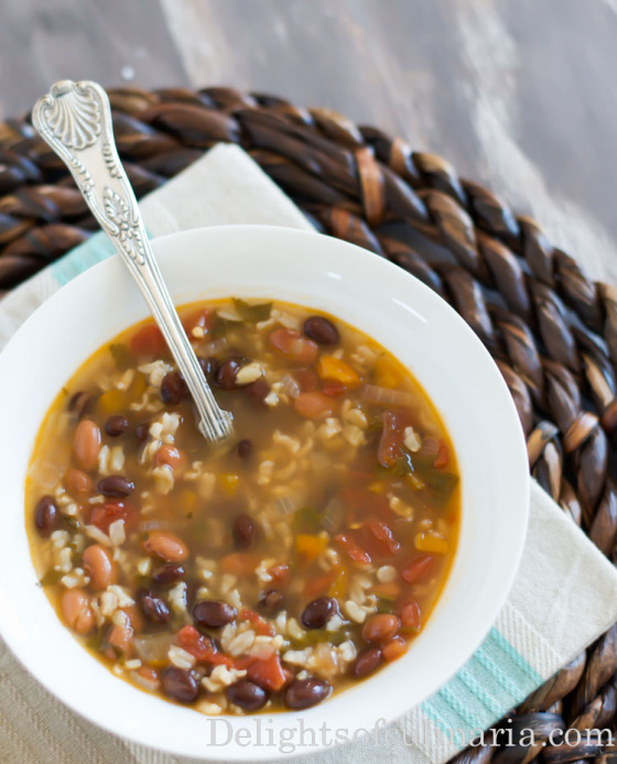 bean and rice soup-3