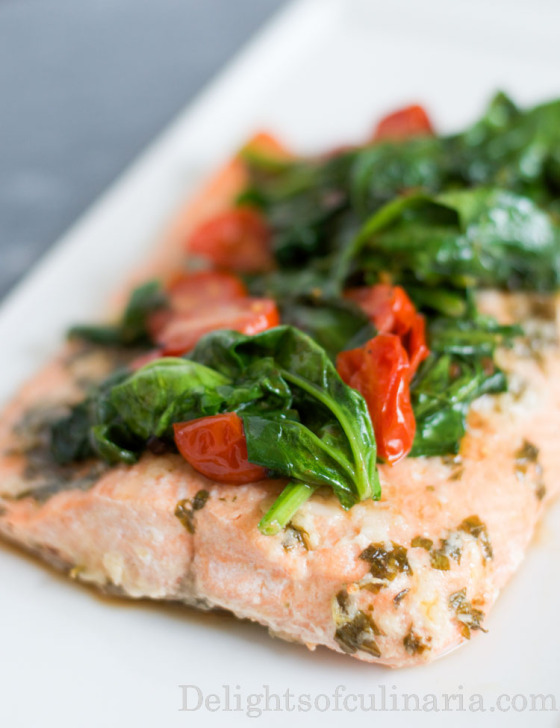 Salmon and Spinach in Parchment - Martha Stewart Recipes; must try, it ...