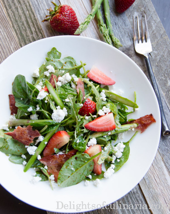 spinach arugula salad with strawberries-2