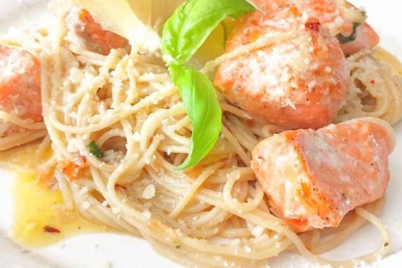 Salmon Pasta Dish