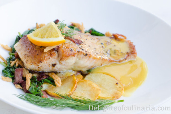 Fish with Orange Beurre Blanc Sauce